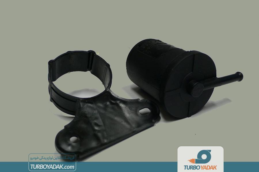 فیلتر بنزین انژکتور دو سر کج با دیاق ML تولید ایران مناسب برای پراید نسیم  