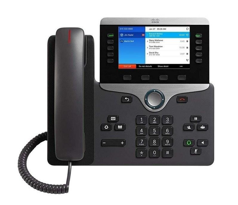 تصویر تلفن VoIP سیسکو مدل 8841 تحت شبکه