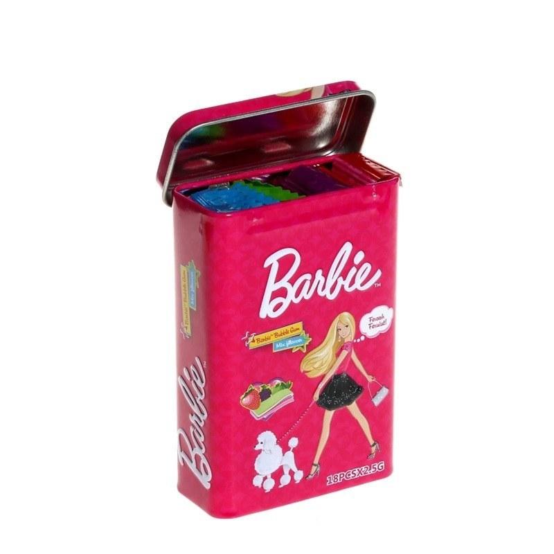 تصویر آدامس میوه ای باربی قوطی فلزی   Barbie