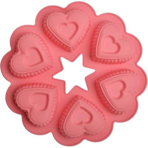 تصویر قالب سیلیکون قلب 5 تیکه