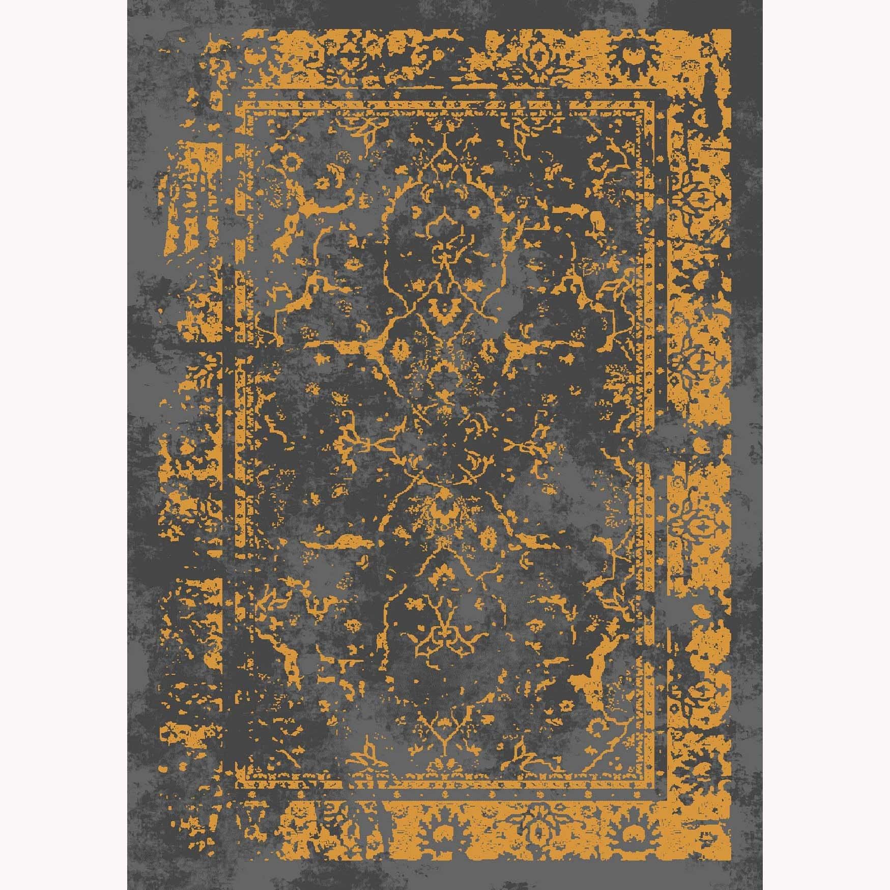 تصویر فرش ماشینی الگانت کد ۲۵۳۳ زغالی