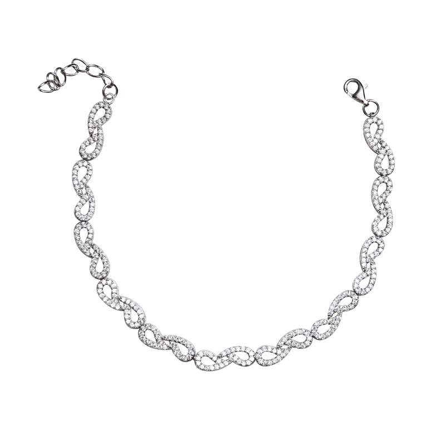 دستبند زنجیری نقره - کد SBC035