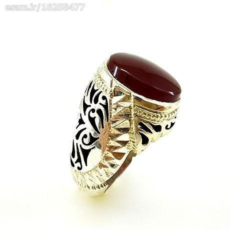 انگشتری که مشاهده می نمایید انگشتر نقره دستساز با سنگ عقیق یمنی زیبا می باشد. | انگشتر عقیق یمنی مردانه کد R167