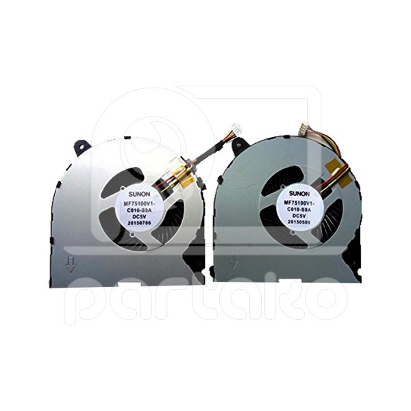 main images فن لپ تاپ لنوو Laptop Fan Lenovo Ideapad Y700-15ISK left right