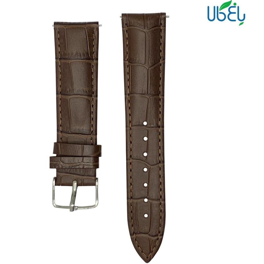 تصویر بند چرم طبیعی پوست ماری ساعت هوشمند سامسونگ مناسب Galaxy Watch active/active 2 Band for Samsung Galaxy Watch active/active 2