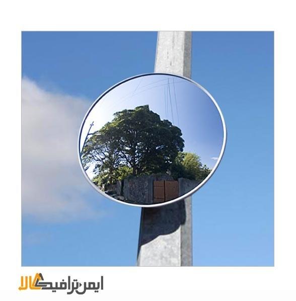 تصویر آینه محدب ترافیکی شیشه ای بدون فریم قطر50 H-9044